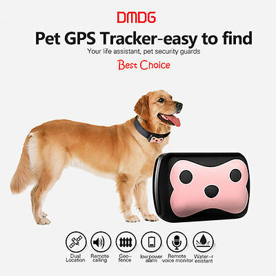 Pet Mini GPS Tracker with Collar for Small Pet Dog Cat GPS Tracker Locator UK