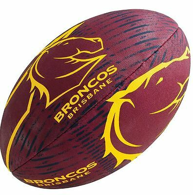New ~ Nrl Rugby League Football~ Brisbane Broncos Supporters~ 11 Inch ~ Steeden