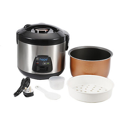 Rice Cooker 3/4 Litre Capacity Non Stick Removable Pan & Steam Function UK