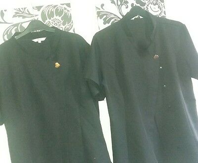 two salon beauty hairdressing student tunic uk size 16