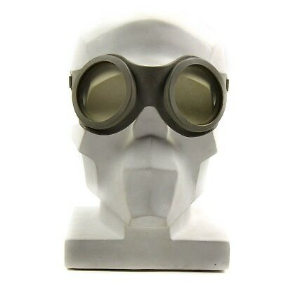 Original Vintage Finnish army protection goggles. Grey rubber Finland goggles
