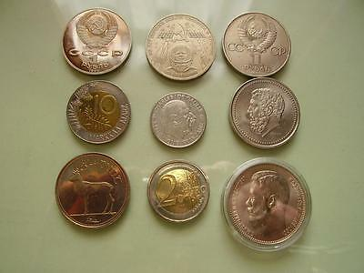 20 th C European coins All collectable 150 grams, Worth a look  (9)
