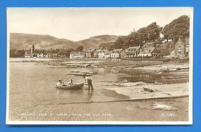 Lamlash,isle Of Arran,from The Old Pier.real Photographic Postcard Posted 1955