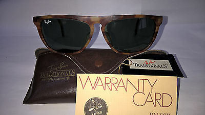 """1990's VINTAGE RAY-BAN B&L USA """"TRADITIONALS STYLE G"""" ORIGINAL CASE/TAG/WARRANTY"""