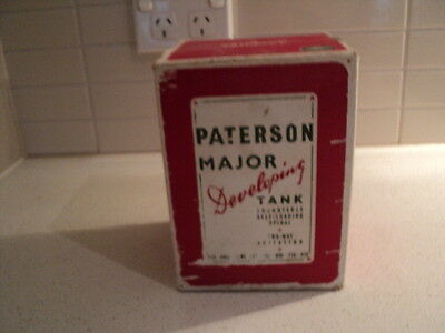 Paterson Major Developing Tank 1950's with original instructions & box