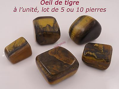 Pierre Polie Oeil De Tigre - Lot 1  5  10 Pierres - Protection - Lithotherapie