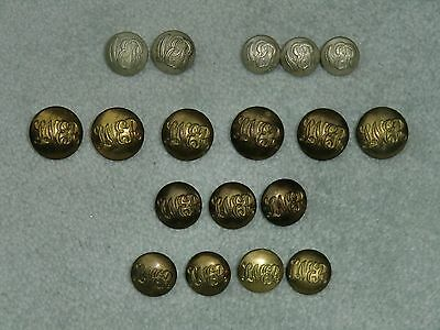 Old Railway Company Uniform Buttons N.E.R. and L.N.E.R.