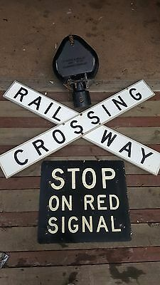 Victorian Railways VR Crossing Sign and Bell Set