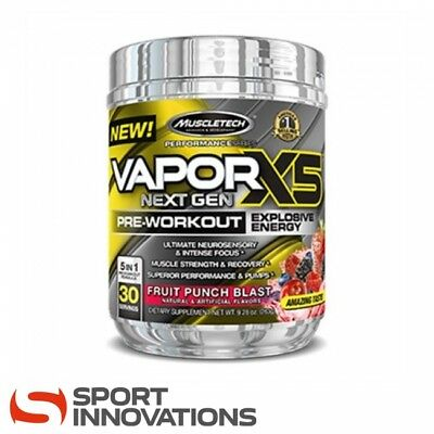 (15,31€/100g) MuscleTech Vapor X5 Next Gen Pre Workout Booster 228g