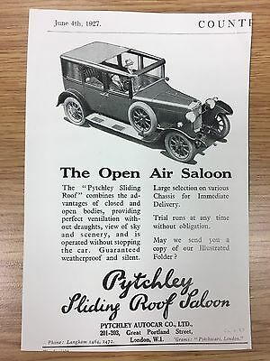 RARE 1927 PYTCHLEY Autocar Co Vintage Small B&W Car Advert