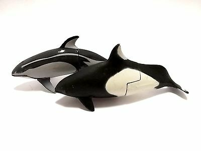 Japan KAIYODO Choco EGG Pacific White Sided Dolphin Animal Figure Collectible