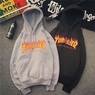 Men Women Hoodie Sweater Hip-hop Skateboard Thrasher Sweatshirts Pullovers Coats