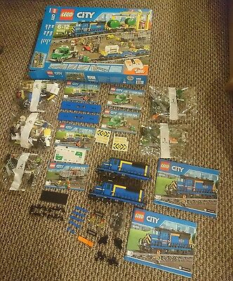 Lego 60052 2x Blue Cargo Train Engines + Wagons Split from 2x Sets PLEASE READ