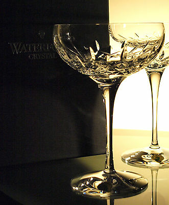 Waterford Crystal Lismore Essence Champagne Saucer Set of 2 Brand New in Box