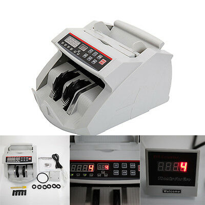 New Money Bill Counter Counting Machine Counterfeit Detector UV MG Cash Bank Hot