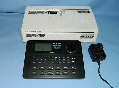 Alesis SR-16 drum machine in box (387)