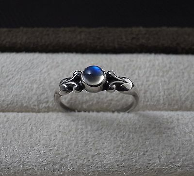 Georg Jensen Sterling Silver Ring # 55 with Moonstone