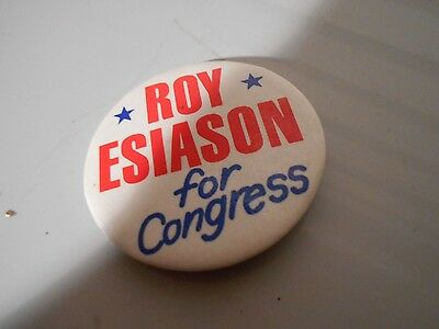 Political Button -- Roy Esiason for Congress -- upstate New York