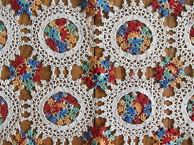 """COLORFUL HAND CROCHETED RUNNER ~ 14"""" x 42"""""""