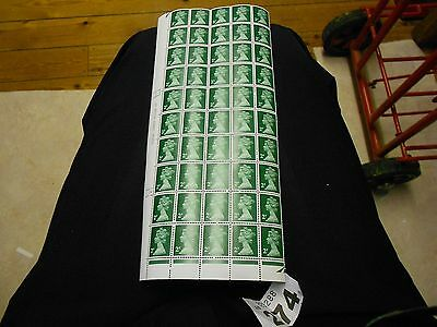 274 GB 1/4 sheet of 2p green with cylinder number 14
