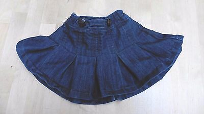 Pleated denim skirt age 6-9 months by Next