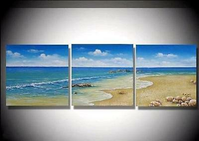Oil painting Abstract Modern Art Canvas Manual Wall Parlor Bedroom -Beach