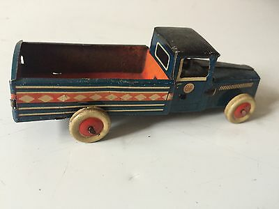 Vintage Georg Fischer Tinplate Penny Toy Delivery Truck Wagon ~ Western Germany