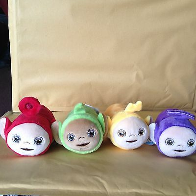 Set of 4  STACKABLE  TELETUBBIES  SOFT TOYS  - Tinky Winky, Dipsy, Laa Laa, & Po