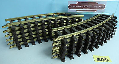 Lgb Gauge '1' Qty Of 12 Short Curved Track #809Y