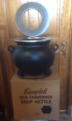 NOS Vintage Genuine Campbell Soup Company Soup Kettle Warmer Model No.3 120V