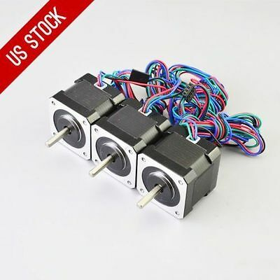 US Shipping 3X Nema17 Stepper Motor 0.9A 0.42Nm  83.6ozin for 3D printer and CNC