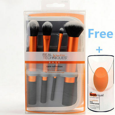 UK Sell HOT Real Techniques Makeup Brushes Core Collection set 4 kit