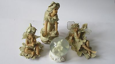 Regency fine arts fairy fantasy figurines 3 fairies and snowglobe #S2