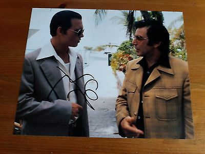 Epic Donnie Brasco Johnny Depp Hand Signed 8x10 Photo with COA