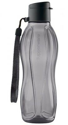TUPPERWARE 500ml SMALL H2O ECO WATER DRINK BOTTLE WITH FLIPTOP CAP BLACK NEW