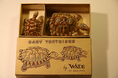 Vintage Wade Baby Tortoises Finest Miniature Porcelain Of England In Mint Box