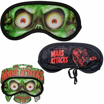 Mars Attacks Sleep Mask New Kreepsville 666 Horror Gore Movie Aliens Halloween