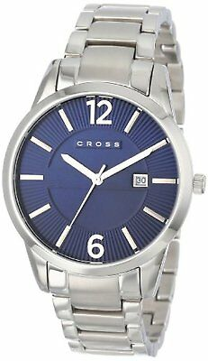 Cross Gotham Blue Dial & Stainless Steel Bracelet Gents Watch CR8002-33 RRP £125