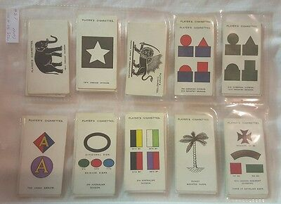 1925 Complete Set Of 100 Army,corps & Divisional Signs Player's Cigarette Cards
