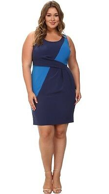 16d11b599e22c NEW!  168 MYNT 1792 Women s Plus size Box Pleat Sheath Dress sz 22 Lane  Bryant