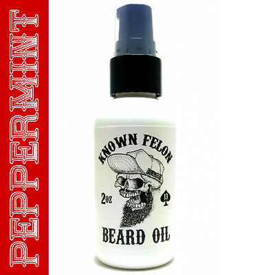 Known Felon 2oz Peppermint Beard Oil All Natural
