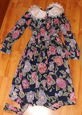 girl vintage dress,floral size 9 years