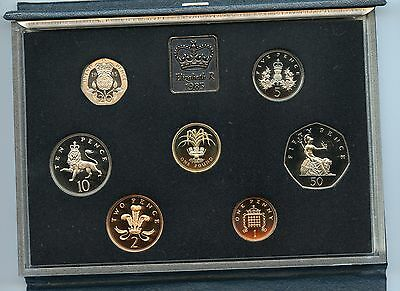 1985 Proof  UK Coins Set  In Fitted Case