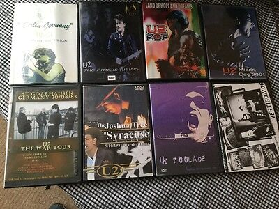 very rare limited addition u2 live DVD collection of tour DVD's 1981-2006.