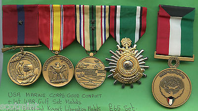 USA Marine Corps Group of 1st Gulf War Medals