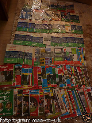 England Home Programmes 1985-2001- Select Yours