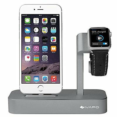 Charging Dock iPhone And Apple Watch Charger Stand Crate Station Aluminum