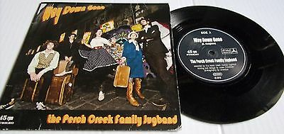 THE PERCH CREEK FAMILY JUG BAND WAY DOWN GONE c/w  MONEY PICTURE SLEEVE OFFLABEL