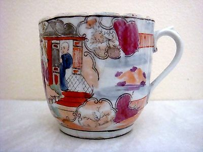 Miles Mason Porcelain Very Attractive Chinese Figures Decorated Coffee Cup C1810