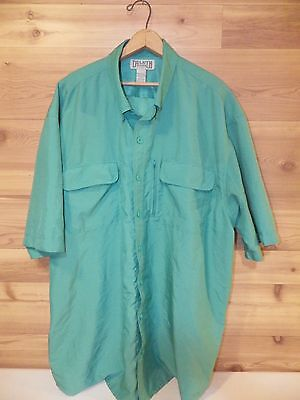 Duluth Trading Men's Vented Short Sleeve Button Down Shirt XXL Tall; Free Ship!